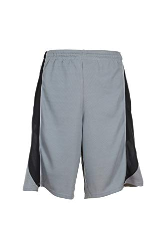 Premium Basketball Shorts for Men with Side Pockets (Grey Blue & White, XXX-Large)