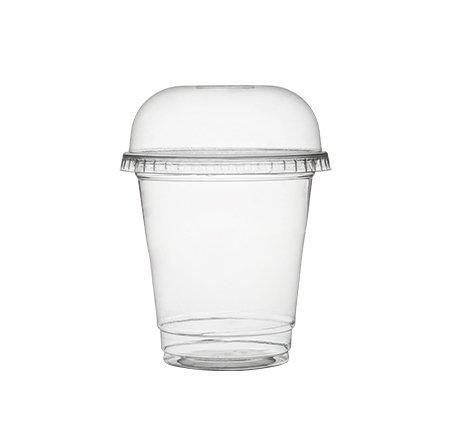 Paquete 100 Vasos de Plástico con Tapas/Hielo Café Vasos con Cúpula Tapas/Batido de Frutas Tazas - 8 Ounce