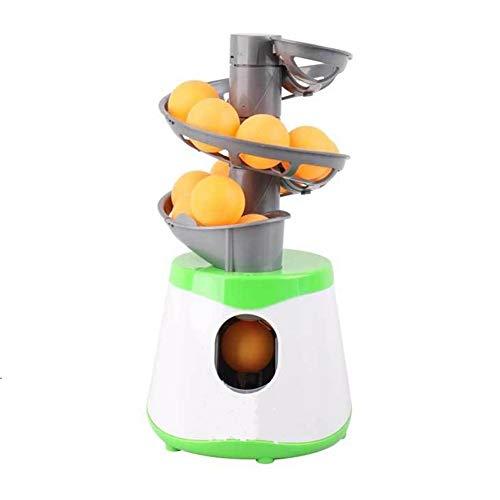 DUOER Chien Pet Interactive Ball Launcher Pingpong Jouet Jouet Automatique Jouets Toy Machine Jouets Dog Fournitures de Chien Accessoires Portables (Couleur : Green and White)