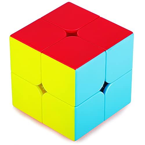 TOYESS Speed Cube 2x2 Stickerless, Cubo di Magico 2x2x2 Giocattolo Regalo Confezione per Bambini e Adulto