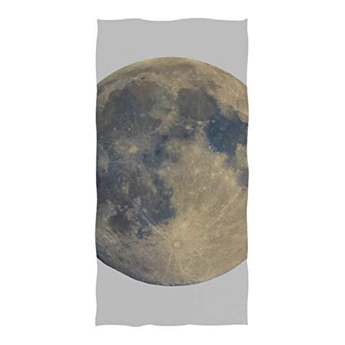 LINPM Toallas de Piscina y Playa, telescopio astronómico Visto Desde la Luna Llena Tamaño Extra Grande Mejorado (74 × 37 in) Toalla de Piscina de Viaje súper Absorbente, de Secado rápido y compacta