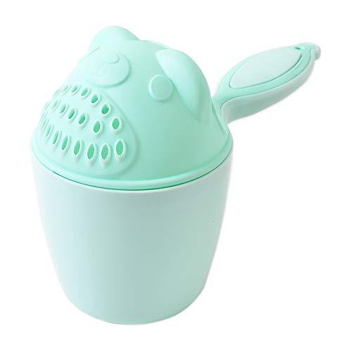 IWILCS Haarwaschbecher, Baby Haarwaschhilfe Kinder, Rinser Becher, zum tränenfreien Haarewaschen, Shampooschutz, Wasserfall, Spülapparat, Spritzschutz (grün)