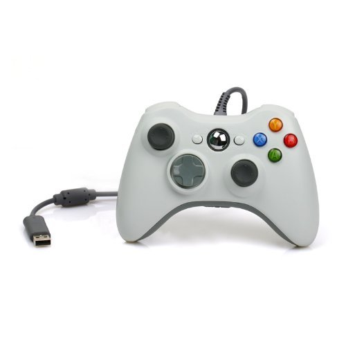 Econoled Wired USB Controller for Pc & Xbox 360 (White)