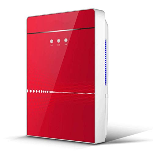 Déshumidificateur déshydratant avec désodorisant à Filtre ioniseur et Argent et déshumidification Intelligente - Rouge