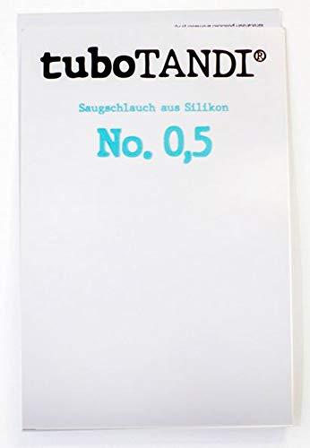 tuboTANDI Saugschlauch No. 0,5 Therapieschlauch Trinkschlauch bei Mundfunktionsstörungen, optimaler Schlauch für Funktionales Mundprogramm (FMP) Logopädie, Made in Germany/Berlin