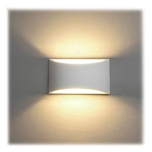 NARUJUBU Lampes murales Lamp Lampe Murale Murale en plâtre Moderne d'intérieur LED 7W, Blanc Chaud, Applique Murale LED for Le Salon, la Chambre à Coucher, Le Couloir (Ampoule à LED G9 Incluse)