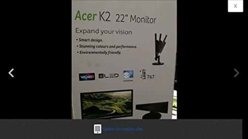Acer K2 K222HQL LED Display 54,6 cm (21.5 Zoll) Full HD Schwarz - Computerbildschirme (54,6 cm (21.5 Zoll), 1920 x 1080 Pixel, Full HD, LED, 5 ms, Schwarz)