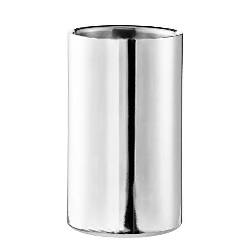 Edzard Refrigerador de Botellas Nebraska, de Acero Inoxidable, Pulido, de Doble Pared, diámetro 12 cm, Altura 20 cm
