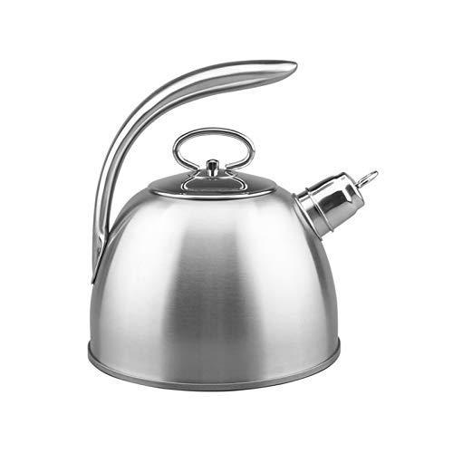 SQL Kettle de Acero Inoxidable Silbato de Gran Capacidad Kettle Hogar Cafe Cafe Café Plano Inferior Gas Inducción Estufa