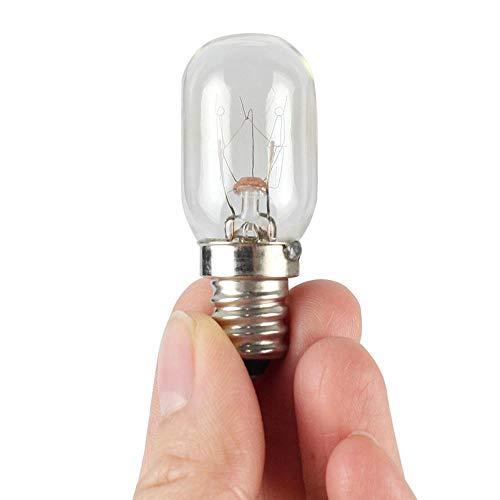 Bombilla de nevera 10W E12 110V Frigorífico Microondas Microondas Bombilla Frigorífico Bombilla de luz Tungsteno Filamento Bulbo Lámparas Blanco Cálido Ligtigo