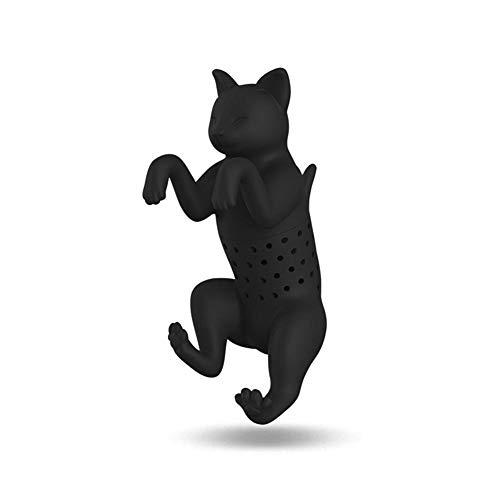 Nivelti Animal - Infusor de té (silicona), diseño de gato Negro