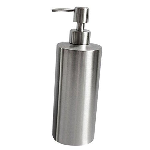 MagiDeal Edelstahl Seifenspender, Badezimmer Flüssigseifen Lotionspender Flüssigseifenspender für Küchenspüle, Bad - Silber, 1# 250ml