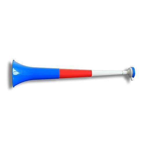 Vuvuzela Horn Fan-Trompete Fussball versch. Länderfarben - Gesamtlänge ca. 55cm - 4teilig Island