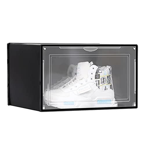 ColourQ - Zapatero de plástico transparente con cierre magnético apilable tipo cajón organizador de zapatos para hombres y mujeres