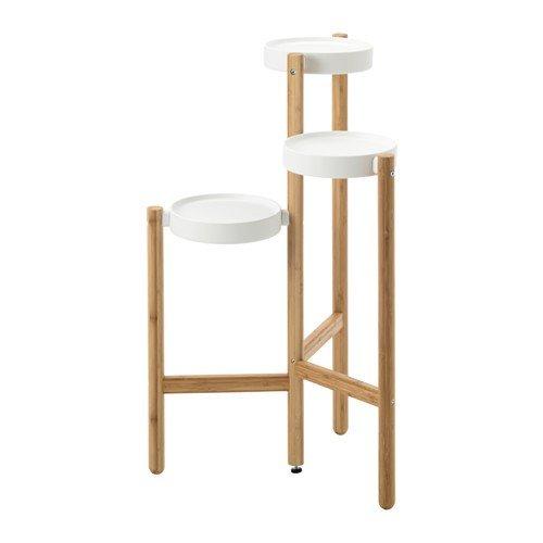 Ikea SATSUMAS - Soporte para flores (bambú, 78 cm), color blanco