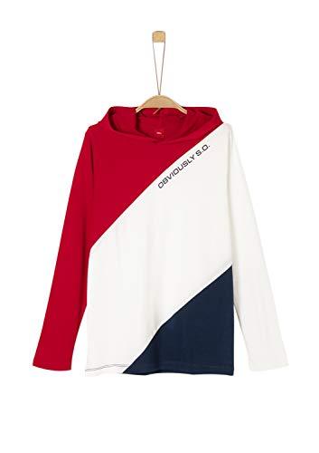 s.Oliver Jungen 61.909.31.8717 T-Shirt, Rot (Red 3188), 140 (Herstellergröße: S/REG)