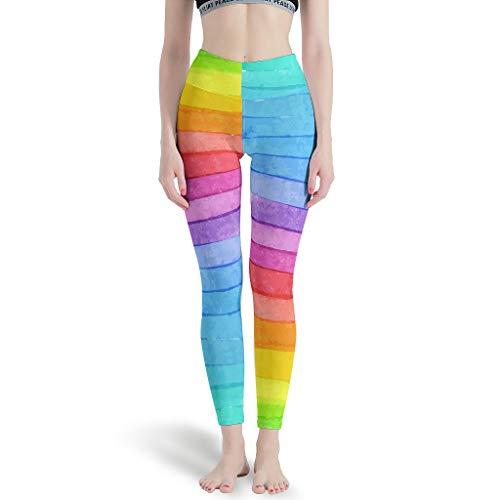 LIFOOST Polainas deportivas para mujer, ajustadas, elásticas, color blanco, XS