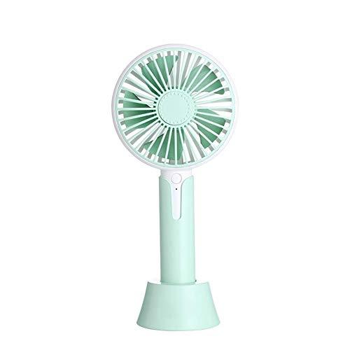 Mini Silent Fan Elektrische handventilator met 5 vleugels, 3 snelheden, aromatherapie, 1200 mAh, voor outdoor-thuisreizen