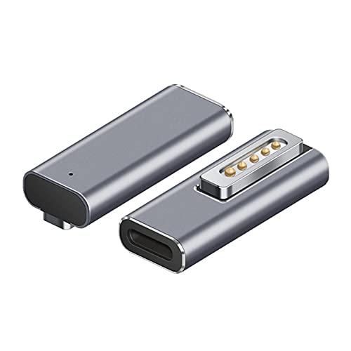 Hemisgin Adaptador magnético USB C, conversión de Carga Tipo C a Magsafe2 Adaptador USB Tipo C Interfaz Hembra a Adaptador magnético Compatible con PD de Carga rápida Method