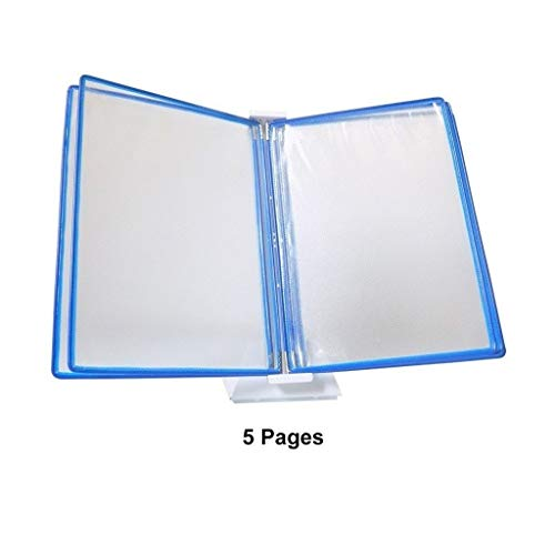 Bxwjg Flip File Holder, Desktop Catalogus Rack 5 Panelen 10 Pagina's, Letter Size Verschillende kleurranden