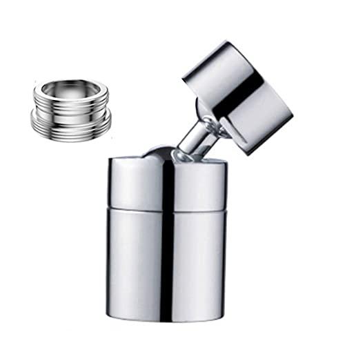 Rotable Ajustable 720/360 Grados Grifo Pulsador Filtro Filtro Faucet Spray Head Anti Splash Filter Filtro a Prueba de Salvo Guardar Filtro de Boquilla de Grifo para baño (Color : 24mm 360degree)