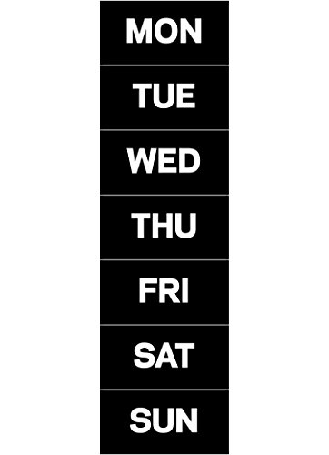 MasterVision Days of The Week Magnets, 1 x 2 Inches Each, 7 Magnets, Black/White