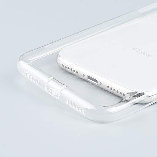TOP EUROPE - Protective Rear Gel/TPU Case/Siliconen Flexibel en antislip, bescherming 360 o Slechts 0,6 mm Expander met stoppers voor oplader en Jack geluidskaart voor Samsung A8 2018 - Transparant