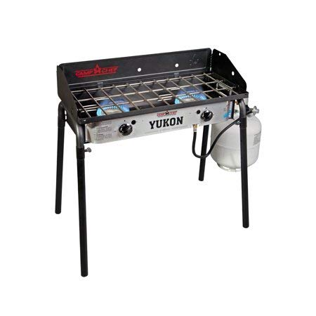 Camp Chef YK60LW Yukon 2-Burner Aluminum Outdoor Camping Stove