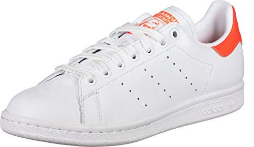 adidas Stan Smith W, Chaussures de Gymnastique Femme, Blanc (FTWR White/Solar Orange/FTWR White FTWR White/Solar Orange/FTWR White), 36 2/3 EU