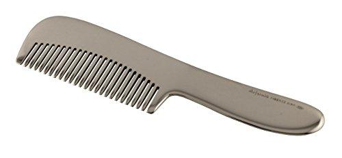 Arfasatti Festem Sterlingsilber 925 Kamm für Bart und Schnurrbart Hand Made in Italy