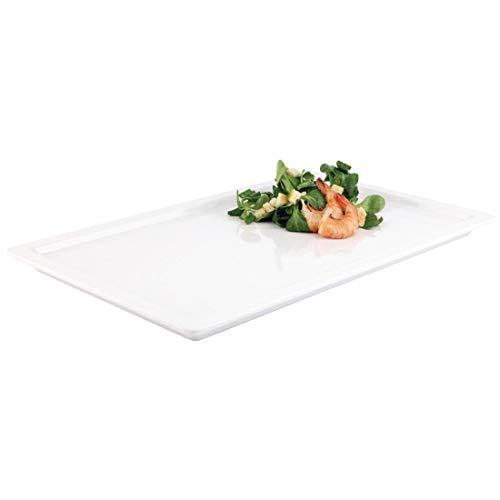 APS 83830 APART GN 1/2 weiß Tablett aus Melamin, 32.5 x 26.5 x 2.5 cm
