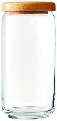 Aevlon™ Pop Jar with Wooden Lid 1000ml, Set of 2.