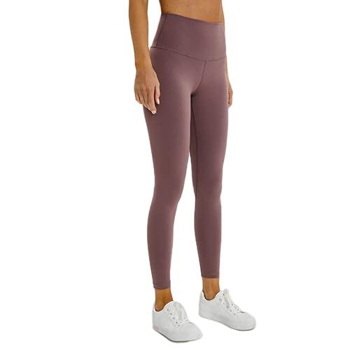 QTJY Pantalones Deportivos de Yoga Desnudos Suaves, Mallas Deportivas para Mujer, Estiramiento de Cintura Alta, Caderas, Pantalones Deportivos, Pantalones Deportivos D XL