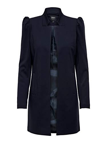 Only ONLPOPTRASH Soho Life Puff Coatigan PNT Abrigo, Azul Oscuro, L para Mujer