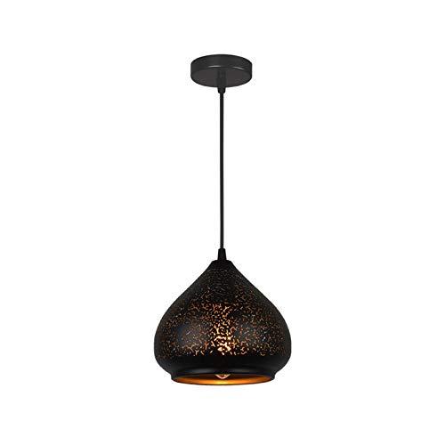 Araña Moderna del Norte De Europa, El Restaurante Bar Iron Art Hollow out Light Pendant Light E27 LED Lámpara De Araña, con Cable Colgante Ajustable Adecuado para Restaurantes, Bares, Cocina, Estudio