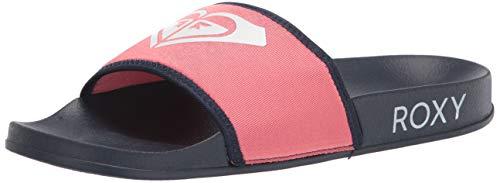 Roxy Women's Slippy Slide Sandal, Blue Indigo 21, 8