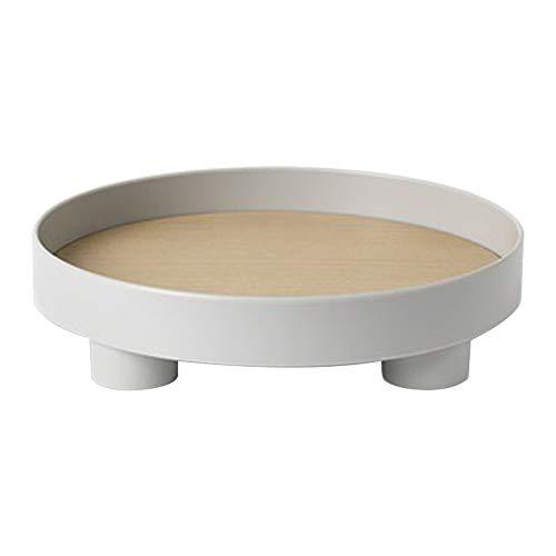 YTGH Vassoio portaoggetti Rotondo in plastica nordica Stoviglie Vassoio Anello Bianco Gioielli Decorativi Vassoio da Cucina per Matrimoni da Tavolo
