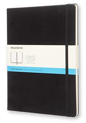 Moleskine Classic Notebook, Taccuino con Pagine Puntinate, Copertina Rigida e Chiusura ad Elastico, Formato XL 19 x 25 cm, Colore Nero, 192 Pagine