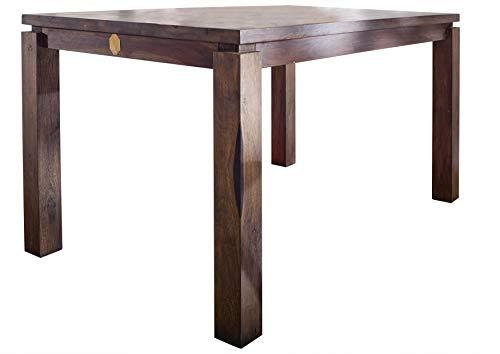 MASSIVMOEBEL24.DE Massivholz lackiert Sheesham Möbel grau Esstisch 140x90 Palisander Massivmöbel massiv Holz Metro Polis #153