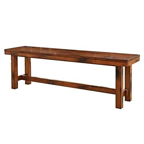 Amazon WE Furniture AZBH1DO Solid Wood Dining Bench Dark Oak Kitchen