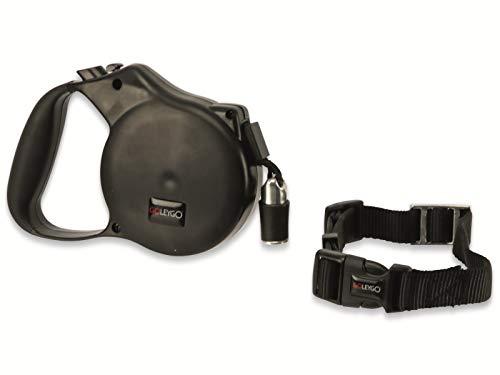 N/A Hundeleine & Halsband GoLeyGo Vario S/M Schwarz Größe S/M 1 St.