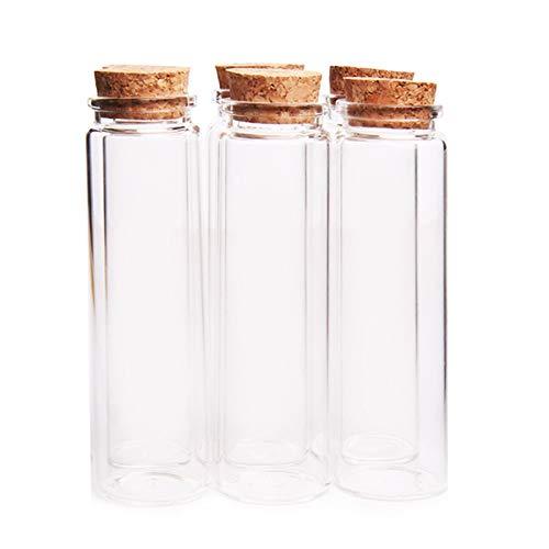 MHXY Transparent 100 stücke 37 * 120mm 100ml Glasflasche Wishing Flasche Leere Probe Aufbewahrungsgefäß mit Korkstopper Drop Sale - transparent Glasflasche