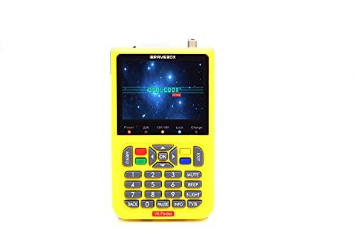 Digital Satellite Finder Meter Parabola Satellitare Sat Finder V8 Misuratore di Campo Digitale Terrestre e Sat per Televisore e Altri Lettori Multimediali