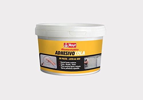Rayt 278-11 Blumestukko Adhesivo en pasta. Listo al uso. Para suelos, paredes y techos, placas acústicas, aislantes, losetas cerámicas y poliestireno expandido, 1,5kg
