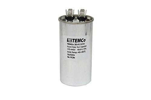 TEMCo 40 uf/MFD 370-440 VAC Volts Round Run Capacitor 50/60 Hz AC Electric - Lot -1