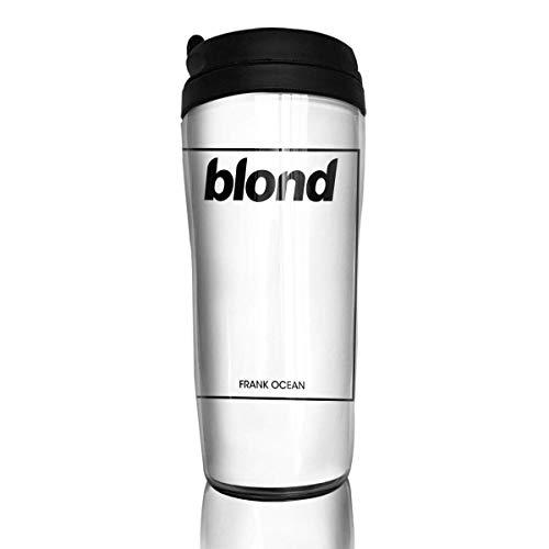 Qurbet Tazza da Viaggio da caffè, Coffee Mugs, Blond Frank Ocean, Decaf Mountain Outdoor Coffee Mug Reusable Plastic Curve Travel Mug for Women Men