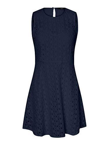 Vero Moda Vmallie Lace S/l Short Dress Noos Vestido Formal, Blazer Azul Marino, Mujer