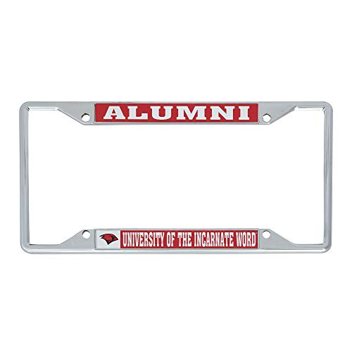 University of The Incarnate Word UIW Cardinals Metal License Plate Frame for Front or Back of Car Officially Licensed (Alumni)