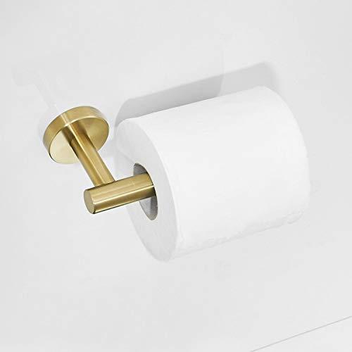 Leekayer 304 Edelstahl Toilettenpapierhalter Rolle gebürstet Goldene Wand