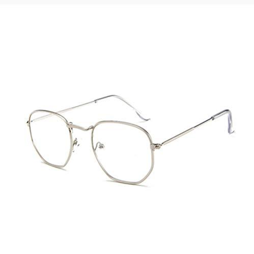 ZZZXX Gafas De Sol Unisex Gafas De Sol Hexagonales Retro De Metal Gafas De Piloto Con Estuche Y Paño De Limpieza, Para Ciclismo Pescar Y Conducir